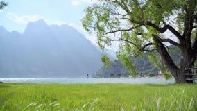 Άποψη λιμνών Garda απόθεμα βίντεο