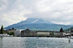 Άποψη Λουκέρνης, Ελβετία Στοκ εικόνες με δικαίωμα ελεύθερης χρήσης