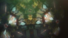 Άποψη μέσω του καλειδοσκόπιου σε έναν πίνακα με το ψαλίδι στο εσωτερικό απόθεμα βίντεο