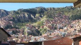 Άποψη μέσω του παραθύρου, από την πόλη του Λα Παζ Βολιβία στοκ εικόνες με δικαίωμα ελεύθερης χρήσης