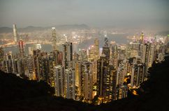 Άποψη ματιών πουλιών Χονγκ Κονγκ ` s στοκ εικόνες
