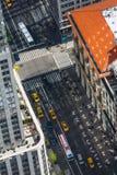 Άποψη ματιών πουλιών εικονικής παράστασης πόλης της Νέας Υόρκης Στοκ Φωτογραφία