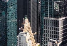 Άποψη ματιών πουλιών εικονικής παράστασης πόλης της Νέας Υόρκης Στοκ εικόνα με δικαίωμα ελεύθερης χρήσης