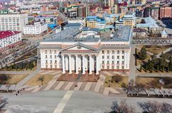 Άποψη ματιών πουλιών σχετικά με την κυβέρνηση περιοχών Tyumen Ρωσία Στοκ φωτογραφία με δικαίωμα ελεύθερης χρήσης