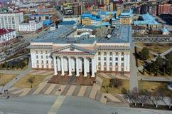Άποψη ματιών πουλιών σχετικά με την κυβέρνηση περιοχών Tyumen Ρωσία Στοκ φωτογραφίες με δικαίωμα ελεύθερης χρήσης