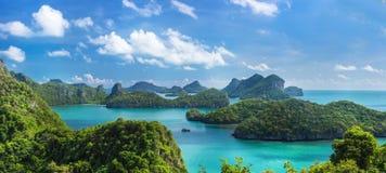 Άποψη ματιών πουλιών της θάλασσας νησί εθνικό Π λουριών ANG της Ταϊλάνδης, MU Ko Στοκ φωτογραφίες με δικαίωμα ελεύθερης χρήσης