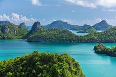 Άποψη ματιών πουλιών της θάλασσας νησί εθνικό Π λουριών ANG της Ταϊλάνδης, MU Ko Στοκ φωτογραφία με δικαίωμα ελεύθερης χρήσης