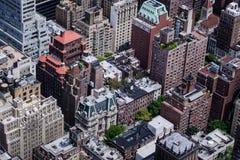 Άποψη ματιών πουλιών της Νέας Υόρκης Στοκ Εικόνες