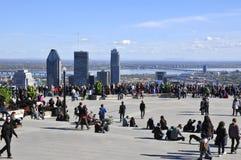 Άποψη ματιών πουλιών του στο κέντρο της πόλης Μόντρεαλ Στοκ Φωτογραφίες
