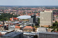 Άποψη ματιών πουλιών ` s της πόλης της Λειψίας Στοκ φωτογραφίες με δικαίωμα ελεύθερης χρήσης