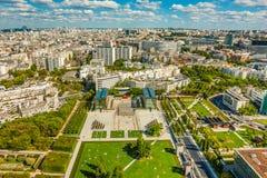 Άποψη ματιών Bird's Parc André Javel Citroà «ν στο Παρίσι στοκ εικόνα με δικαίωμα ελεύθερης χρήσης