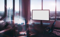 Άποψη μετατόπισης κλίσης του δωματίου γραφείων πολυτέλειας Στοκ φωτογραφία με δικαίωμα ελεύθερης χρήσης
