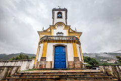 Άποψη μιας εκκλησίας του preto ouro στα gerais του Minas Στοκ εικόνες με δικαίωμα ελεύθερης χρήσης
