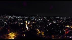 Άποψη μιας ζωής νύχτας του Λος Άντζελες από την τοποθέτηση απόθεμα βίντεο