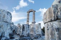 Άποψη ναών Apollon Στοκ φωτογραφίες με δικαίωμα ελεύθερης χρήσης