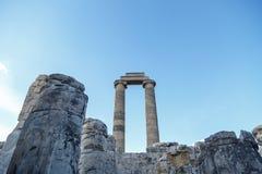 Άποψη ναών Apollon Στοκ Εικόνες