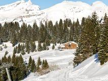 Άποψη να κάνει σκι της περιοχής στην περιοχή του Portes-du-Soleil Στοκ Φωτογραφία