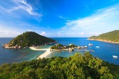 Άποψη νησιών Yuan Nang (Koh Nang Yuan) Στοκ Εικόνα