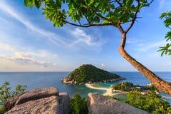 Άποψη νησιών Yuan Nang (Koh Nang Yuan) Στοκ φωτογραφία με δικαίωμα ελεύθερης χρήσης