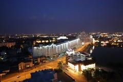 Άποψη νύχτας από τη γέφυρα παρατήρησης στο Μινσκ Στοκ Φωτογραφίες