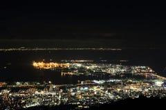 10 άποψη νύχτας εκατομμύριο δολαρίων του Kobe Στοκ εικόνα με δικαίωμα ελεύθερης χρήσης
