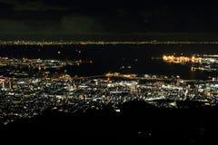 10 άποψη νύχτας εκατομμύριο δολαρίων του Kobe Στοκ Φωτογραφίες