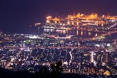10 άποψη νύχτας εκατομμύριο δολαρίων. KOBE. ΙΑΠΩΝΙΑ Στοκ εικόνες με δικαίωμα ελεύθερης χρήσης