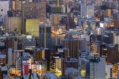 Άποψη νύχτας εμπορικών κέντρων της Οζάκα Στοκ Εικόνες