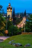 Άποψη νύχτας πέρα από το Εδιμβούργο Στοκ φωτογραφίες με δικαίωμα ελεύθερης χρήσης