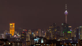 Άποψη νύχτας στη Κουάλα Λουμπούρ στοκ εικόνα