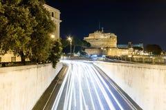 Άποψη νύχτας σχετικά με το κάστρο αγγέλου Αγίου Στοκ φωτογραφία με δικαίωμα ελεύθερης χρήσης