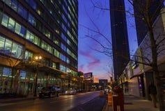 Άποψη νύχτας της εικονικής παράστασης πόλης του Σικάγου την 1η Φεβρουαρίου 2012 στο Σικάγο Στοκ εικόνα με δικαίωμα ελεύθερης χρήσης