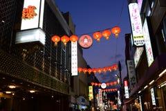 Άποψη νύχτας της Ιαπωνίας Yokohama Chinatown στοκ εικόνες