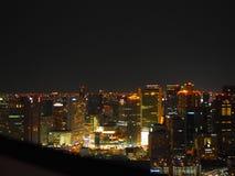 Άποψη νύχτας της Οζάκα Στοκ φωτογραφία με δικαίωμα ελεύθερης χρήσης
