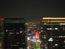 Άποψη νύχτας της Οζάκα Στοκ φωτογραφίες με δικαίωμα ελεύθερης χρήσης