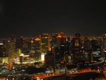 Άποψη νύχτας της Οζάκα Στοκ εικόνες με δικαίωμα ελεύθερης χρήσης