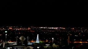 Άποψη νύχτας της πόλης Βαλένθια πόλη γεφυρών των τεχνών και της επιστήμης Ισπανία φιλμ μικρού μήκους
