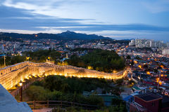 Άποψη νύχτας της πόλης της Σεούλ, Νότια Κορέα Στοκ Εικόνες