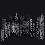 Άποψη νύχτας της πόλης ελεύθερη απεικόνιση δικαιώματος