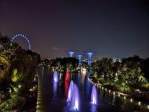 Άποψη νύχτας της Σιγκαπούρης στοκ εικόνες