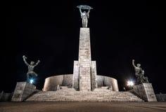 Άποψη νύχτας του αγάλματος ελευθερίας Στοκ φωτογραφία με δικαίωμα ελεύθερης χρήσης