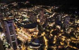Άποψη νύχτας του δαχτυλιδιού ταυρομαχίας Στοκ φωτογραφία με δικαίωμα ελεύθερης χρήσης