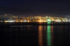 Άποψη νύχτας του βόρειου Βανκούβερ Στοκ Εικόνα
