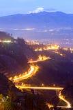 Άποψη νύχτας του Κουίτο Στοκ Εικόνες