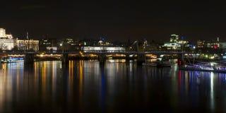 Άποψη νύχτας του Λονδίνου Στοκ εικόνα με δικαίωμα ελεύθερης χρήσης