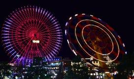 Άποψη νύχτας του λούνα παρκ στοκ φωτογραφίες