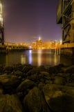 Άποψη νύχτας του Μανχάταν Στοκ εικόνα με δικαίωμα ελεύθερης χρήσης