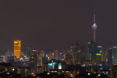 Άποψη νύχτας του ορίζοντα της Κουάλα Λουμπούρ στοκ εικόνες με δικαίωμα ελεύθερης χρήσης