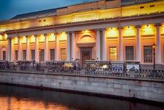 Άποψη νύχτας του ρωσικού μουσείου στην Αγία Πετρούπολη Ρωσία Στοκ φωτογραφίες με δικαίωμα ελεύθερης χρήσης