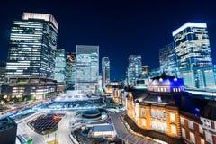 Άποψη νύχτας του σταθμού του Τόκιο Στοκ εικόνες με δικαίωμα ελεύθερης χρήσης